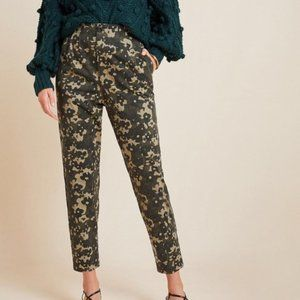 Anthropologie floral camo trouser ankle pants